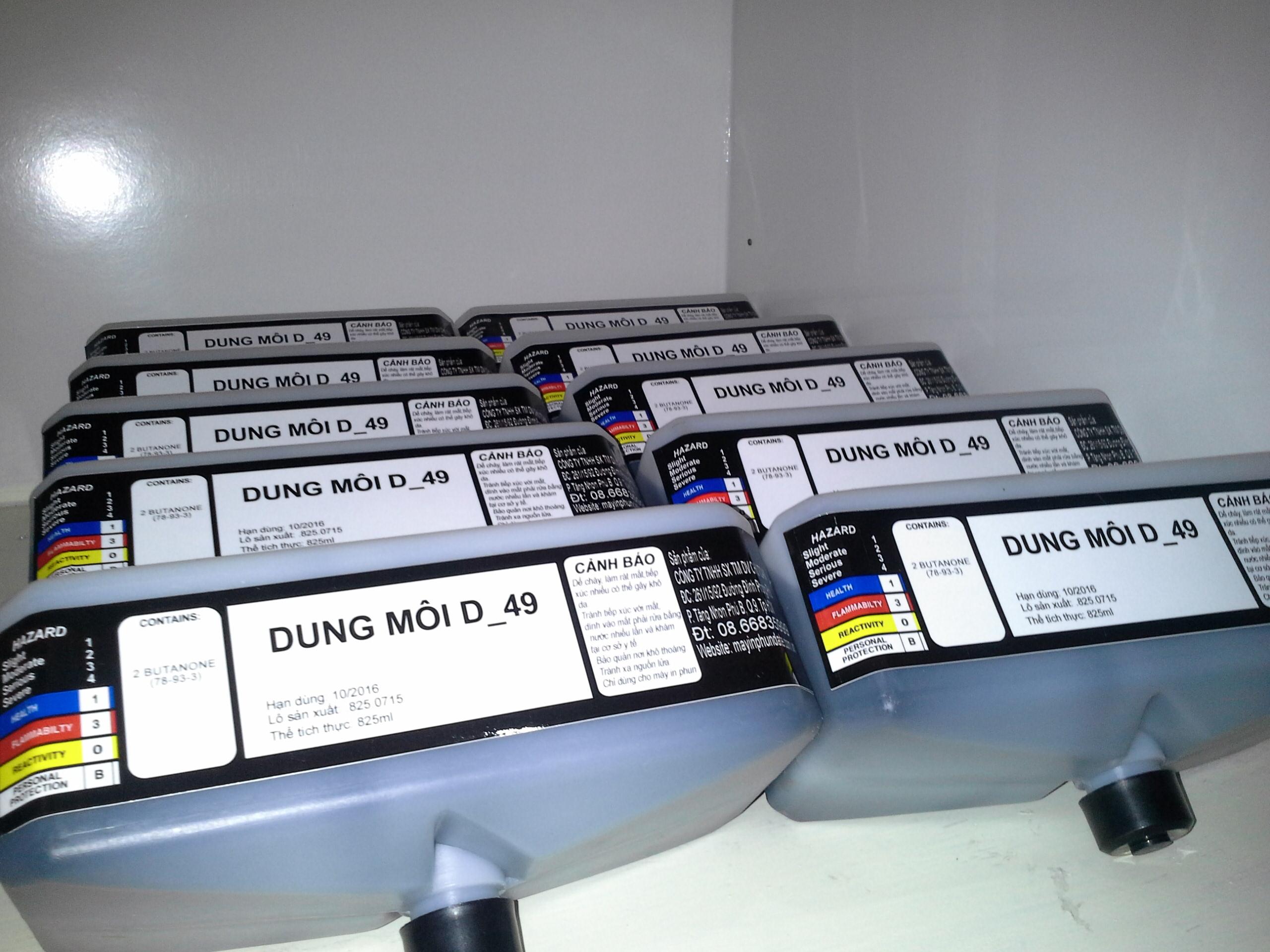 Dung môi dùng cho máy Domino